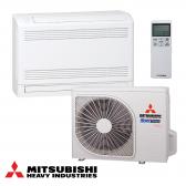MITSUBISHI MULTI - SPLIT INVERTER lauko blokas su sieniniu / grindiniu oro kondicionieriumi 3-ims kambariams